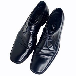 GUCCI Leather Square Toe Lace Up Dress Shoes US 11